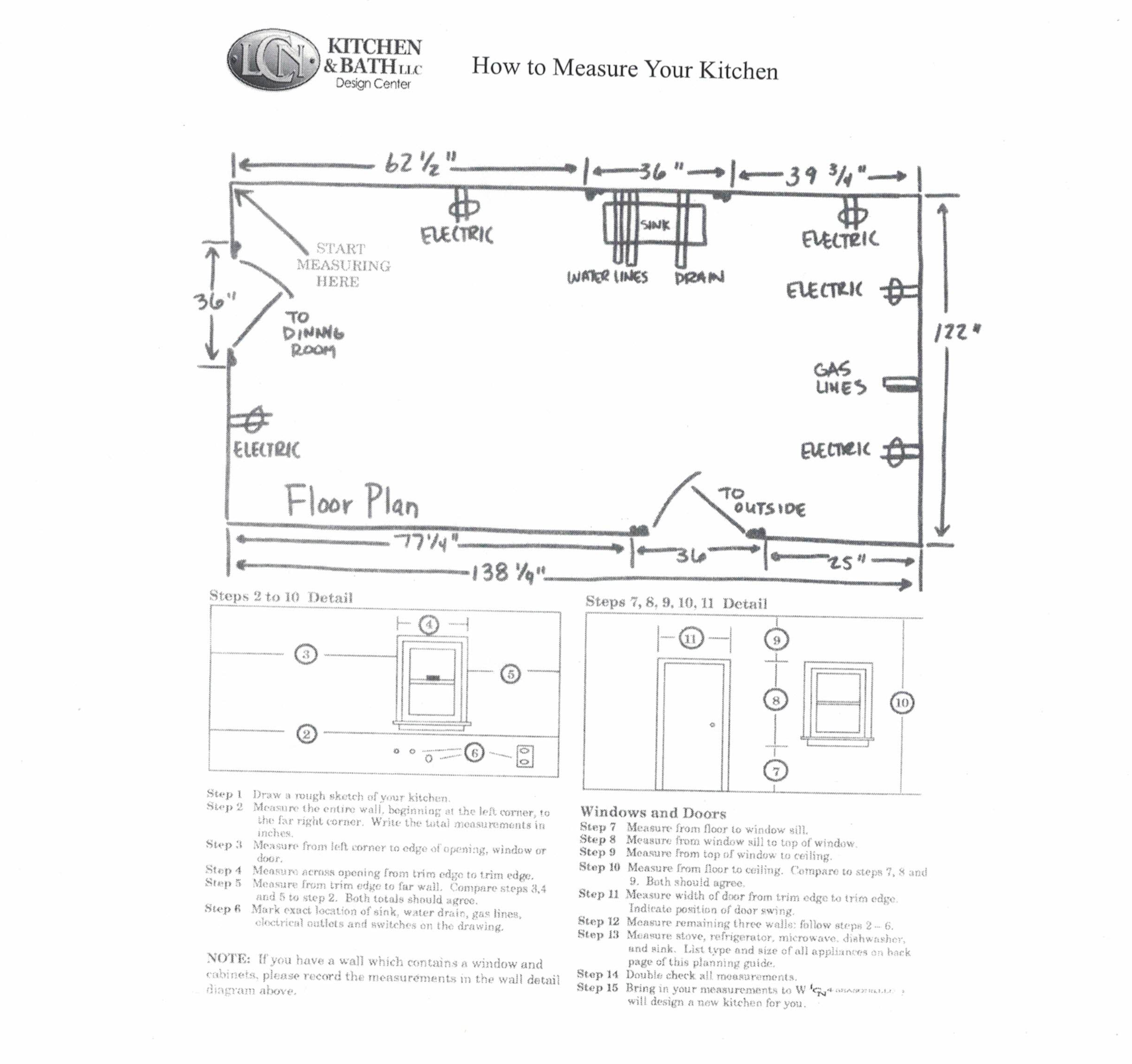 How To Measure Your Kitchen Or Bath Lcn Kitchen And Bath